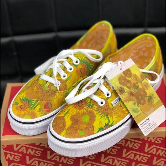 8e29263df9e Vans X Vincent VAN GOGH Sunflower Size M 5.5 W 7